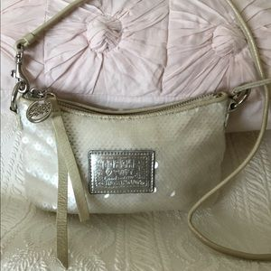 Coach sequinned poppy small purse